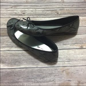 American Eagle Payless Faux Snake Skin Flats